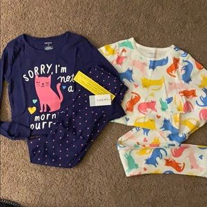 Two set of carters pjs